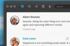 Beautiful Twitter App Interface PSD