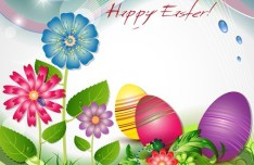 Elegant Happy Easter Eggs Desgin Vector 03