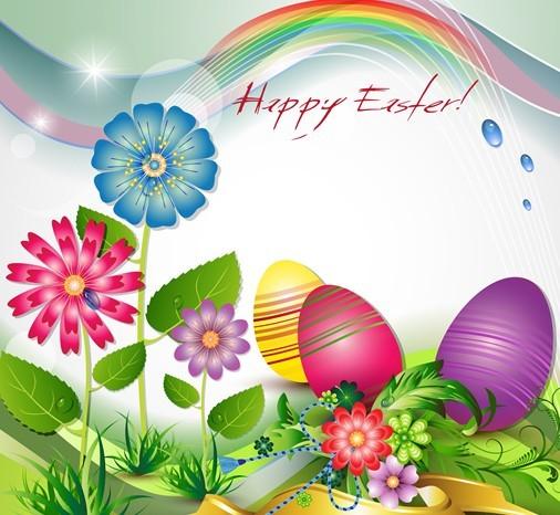 Elegant Happy Easter Eggs Desgin Vector 03