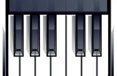 Elegant Vector Piano Keyboard App Icon