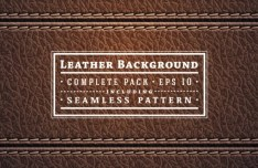 Seamless Leather and Accessories Patterns Vector 02