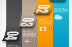 Vector Paper Origami Infographic Option Elements 02