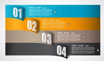 Vector Paper Origami Infographic Option Elements 03