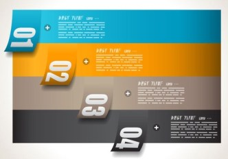 Vector Paper Origami Infographic Option Elements 04