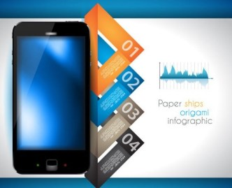 Vector Paper Origami Infographic Option Elements 05