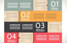 Vector Paper Origami Infographic Option Elements 06