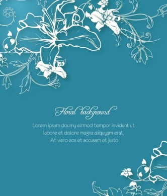 Vector White Floral Background 02