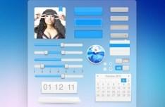 Fashion Aquamarine Web UI Kit PSD