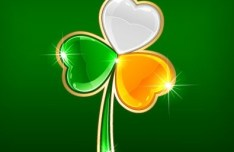 St.Patrick's Day Shamrock Template Vector 02