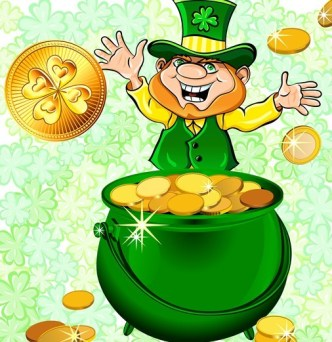 St.Patrick's Day Shamrock Template Vector 07