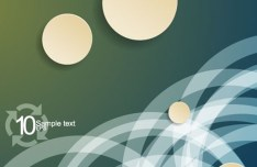 Vector Abstract Background with Shining Circular Labels 02