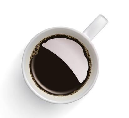 Vector Elegant Coffee Cup Design Material 04