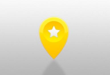 Favorite Location Marker PSD Icon