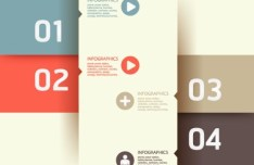 Vector Origami Infographic Option Labels 10