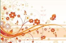 Artistic Vintage Floral Vector Background 02