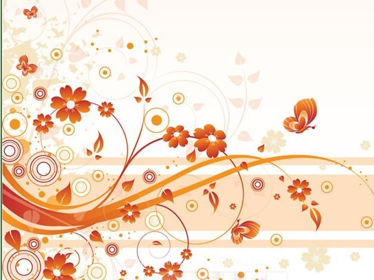 Artistic Vintage Floral Vector Background 02