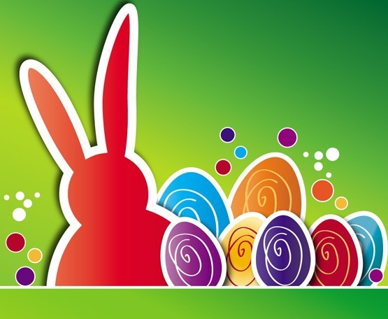 Candy Happy Easter Card Cover Vector Design 03
