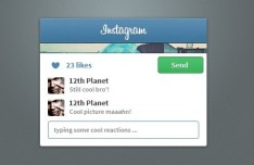 Instagram Widget Interface PSD