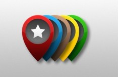 Set of Colored PSD Location Markers 01