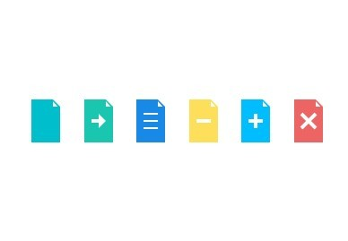 Flat Document Control PSD Icons