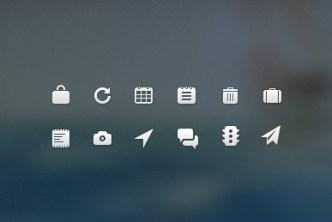 12 Elegant Flat Web PSD Icons