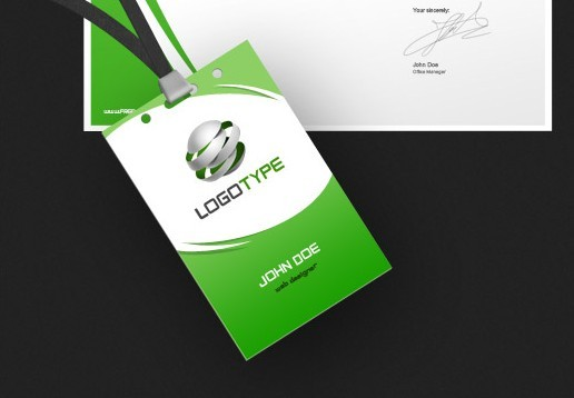 Creative Green Concept Complete Corporate Identity PSD
