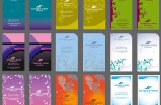Set Of Creative Vertical Business Cards Design Templates Vector