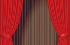 Vector Red Stage Curtain 02