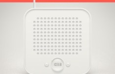 White Radio PSD Icon