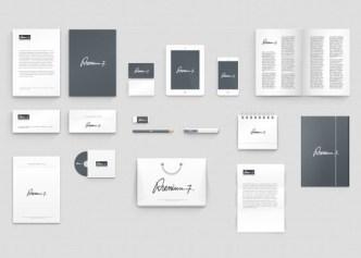 Clean Corporate Identity Mockup PSD