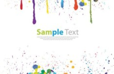 Colorful Splash Text Effect PSD