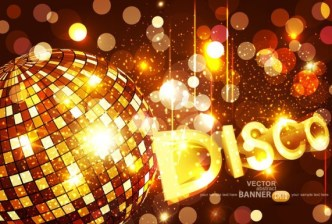 Fashion and Bright Vector Disco Background 01