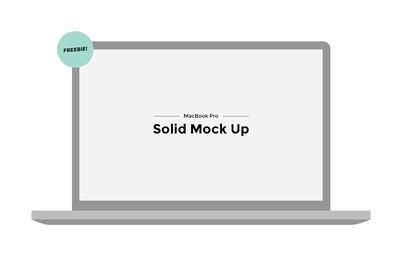 Mackbook Pro Solid Mock Up PSD