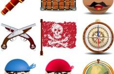 Vector Cartoon Pirate Elements 02