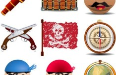 Vector Cartoon Pirate Elements 02