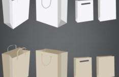 Elegant Vector Paper Shopping Bag Design Template 05