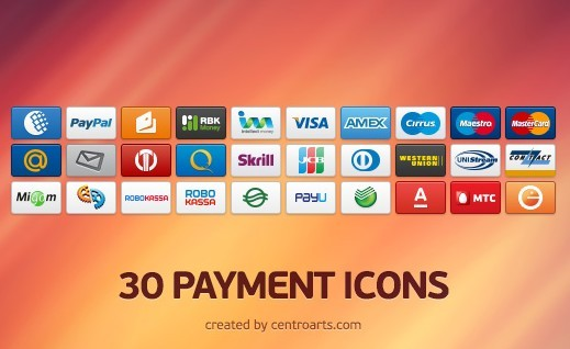 30 Small and Clean Payment Icon Set