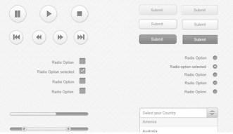 Simple Flat Grey Web UI Kit PSD