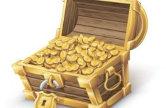 Vector Pirate Treasure Chest Full of Gold 01