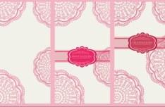 Retro Pink Invitation Card Cover Design Elements Vector 05