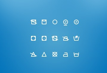 15 Small and Clean Washing Icons PSD