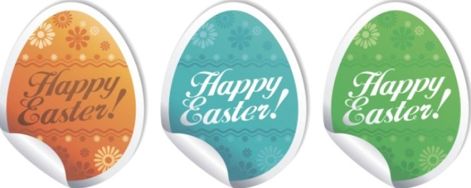 Creative Easter Eggs Design Vector 01