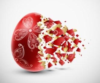 Creative Easter Eggs Design Vector 04