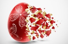 Creative Easter Eggs Design Vector 04