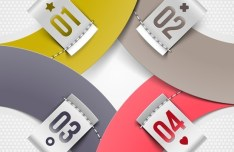 Creative Origami Number Label Vector 01