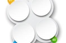 Creative Round Origami Number Label Vector 02
