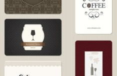 Set of Vector Restaurant Menu Card Design Templates