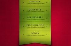 Glossy Ribbon and Banner Design PSD