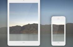 Vector iPhone 5 and iPad Mini Mockups