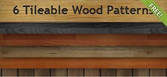 6 Tileable Wood Photoshop Patterns